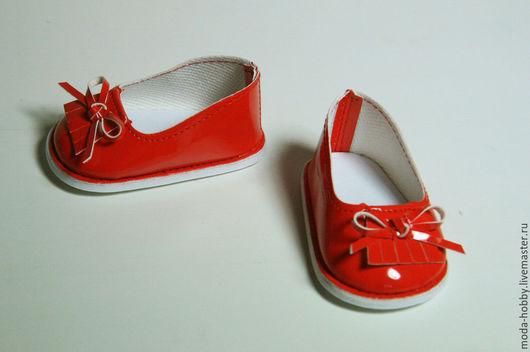 Куклы и игрушки ручной работы. Ярмарка Мастеров - ручная работа. Купить Туфли для куклы лаковые красные. Handmade. Ярко-красный