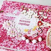 Канцелярские товары ручной работы. Ярмарка Мастеров - ручная работа Фотоальбом для девочки, дневник мамы, дневник беременности. Handmade.