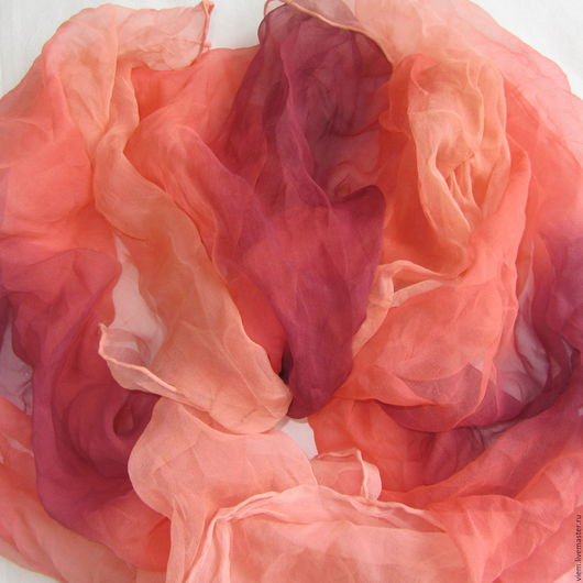 Шарфы и шарфики ручной работы. Ярмарка Мастеров - ручная работа. Купить Шелковый шарф Вишневое суфле. Handmade. Батик