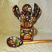 Посуда ручной работы. Ярмарка Мастеров - ручная работа Ложки деревянные Клубничное варенье. Handmade.