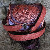 Сумка через плечо ручной работы. Ярмарка Мастеров - ручная работа Сиреневая сумочка через плечо плюс ремень. Handmade.