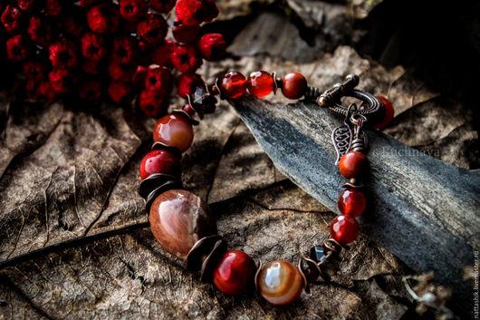 Браслеты ручной работы. Ярмарка Мастеров - ручная работа. Купить Калина красная  - браслет. Handmade. Шебби, украшение, дерево, Рябина