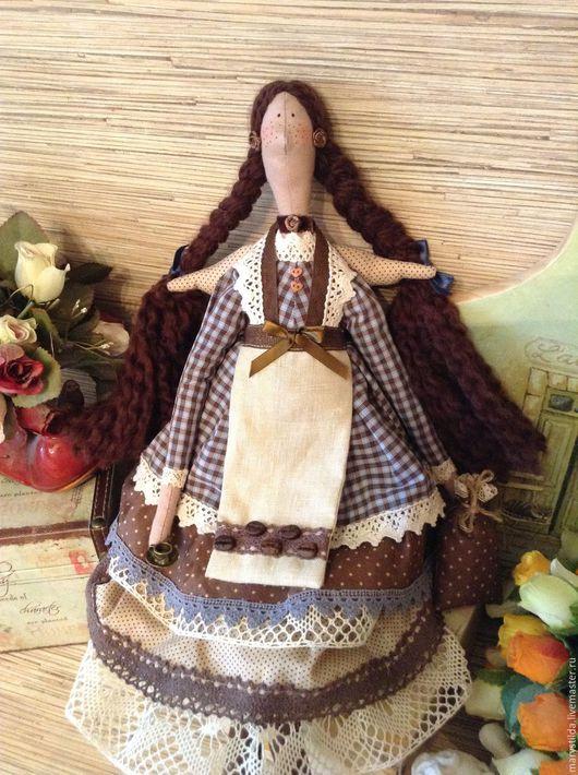 Куклы Тильды ручной работы. Ярмарка Мастеров - ручная работа. Купить Кукла тильда кофейная фея Матильда ангел. Handmade.