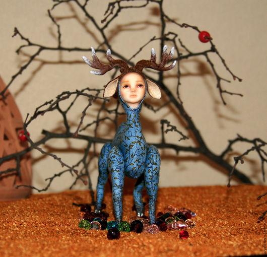 Коллекционные куклы ручной работы. Ярмарка Мастеров - ручная работа. Купить Серебряное Копытце. Handmade. Серебряное копытце, коллекционные игрушки