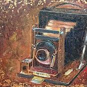 Картины и панно handmade. Livemaster - original item Glance through the time - oil painting - retrofuturist. Handmade.