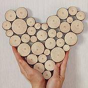 Русский стиль ручной работы. Ярмарка Мастеров - ручная работа Сердце из спила сосны. Handmade.