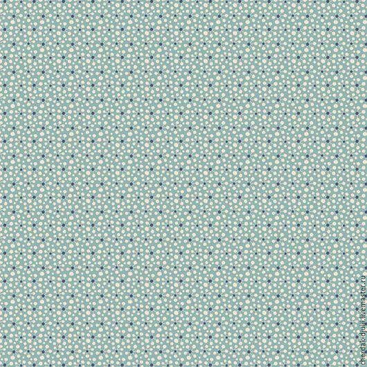 Куклы и игрушки ручной работы. Ярмарка Мастеров - ручная работа. Купить Ткань Tilda Pollen Teal blue, Pardon my garden (2016).  Арт: TF- 119. Handmade.