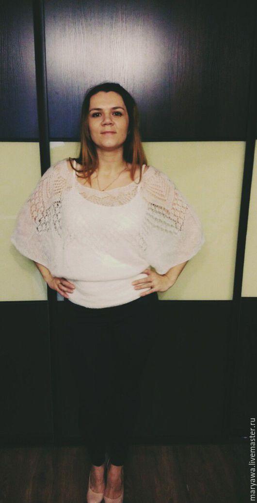 """Кофты и свитера ручной работы. Ярмарка Мастеров - ручная работа. Купить Кофточка """"Жасмин"""". Handmade. Белый, кофта вязаная"""