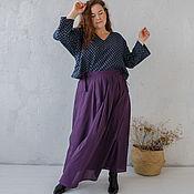 Юбки ручной работы. Ярмарка Мастеров - ручная работа Сливовая юбка из батиста. Handmade.