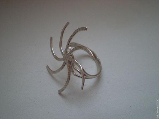 Основа для кольца из серебра 925 пробы `Вихрь`