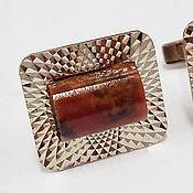 Винтаж handmade. Livemaster - original item Rhodonite cufflinks, 70s. Handmade.
