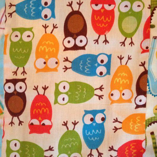 """Пледы и одеяла ручной работы. Ярмарка Мастеров - ручная работа. Купить Одеяло """"умные совы"""". Handmade. Комбинированный, печворк"""