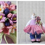 Куклы и игрушки ручной работы. Ярмарка Мастеров - ручная работа Зайцы. Зайка с цветной брошкой.. Handmade.