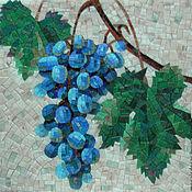 Картины и панно ручной работы. Ярмарка Мастеров - ручная работа Виноград, мозаичное панно. Handmade.