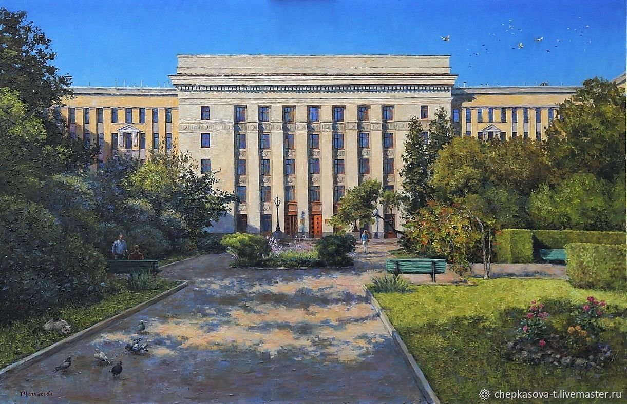 View the biology Department of Moscow state University. Oil on canvas. 2017, Pictures, Moscow,  Фото №1
