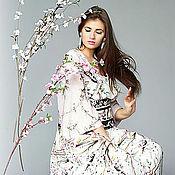 """Одежда ручной работы. Ярмарка Мастеров - ручная работа крепдешиное платье """"сакура"""". Handmade."""