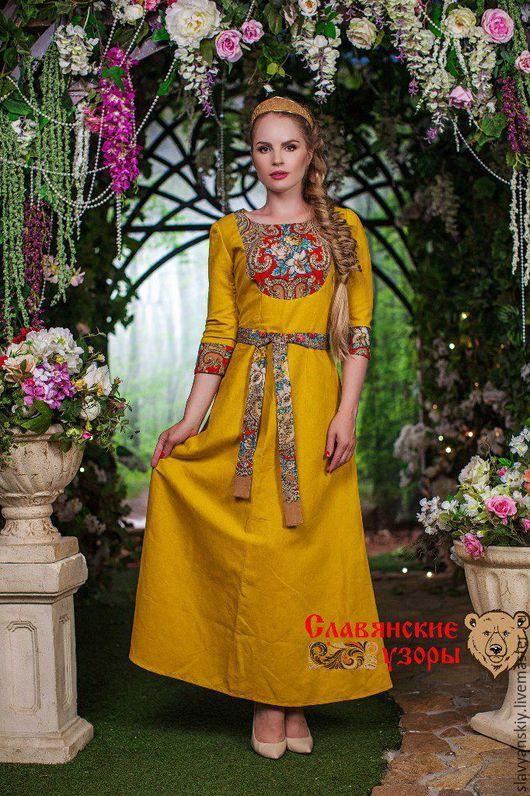 """Платья ручной работы. Ярмарка Мастеров - ручная работа. Купить Платье """"Тайна Сердца"""". Handmade. Желтый, длинное платье"""