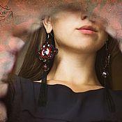 """Украшения ручной работы. Ярмарка Мастеров - ручная работа Серьги """"Жаклин""""!!. Handmade."""