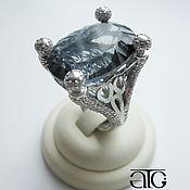 Украшения handmade. Livemaster - original item Silver ring with mystic Topaz and CZ. 925 sterling silver st.. Handmade.