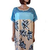 Одежда handmade. Livemaster - original item Elegant summer dress staple viscose with lace