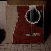 Музыкальные инструменты ручной работы. Ярмарка Мастеров - ручная работа Гитара String art. Handmade.