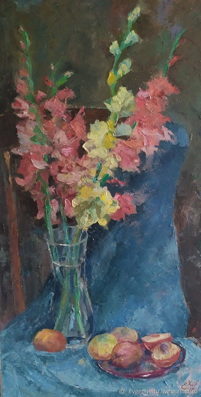 Гладиолусы и персики, Картины, Тольятти,  Фото №1