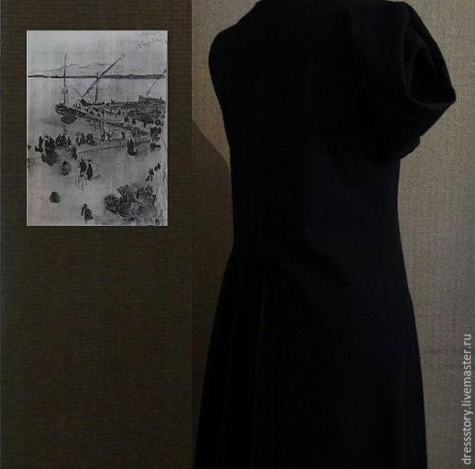 Платья ручной работы. Ярмарка Мастеров - ручная работа. Купить Платье из льна Ты превращен в моё воспоминание.... Handmade. Черный