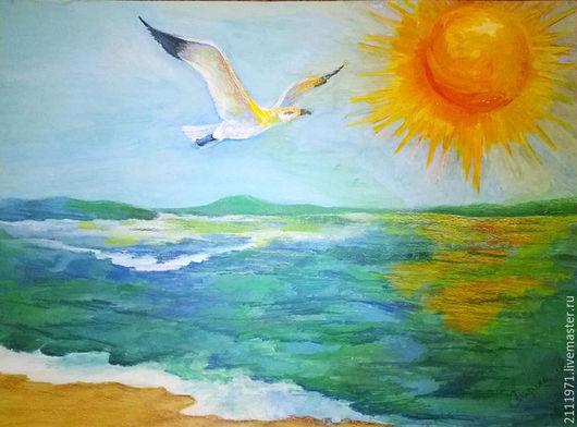 Картина `Полет чайки`, пейзаж, 2011 год Автор Лариса Яско