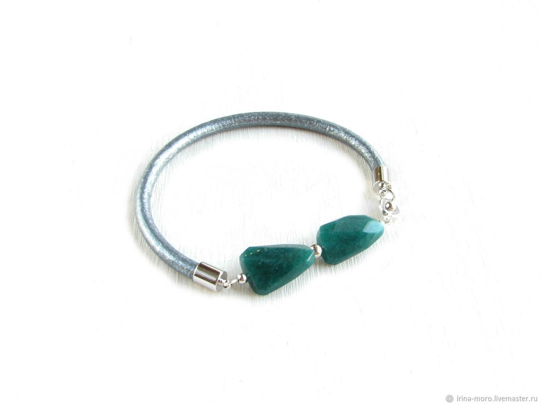 Fantasy jade bracelet green bracelet, jade, Bead bracelet, Moscow,  Фото №1