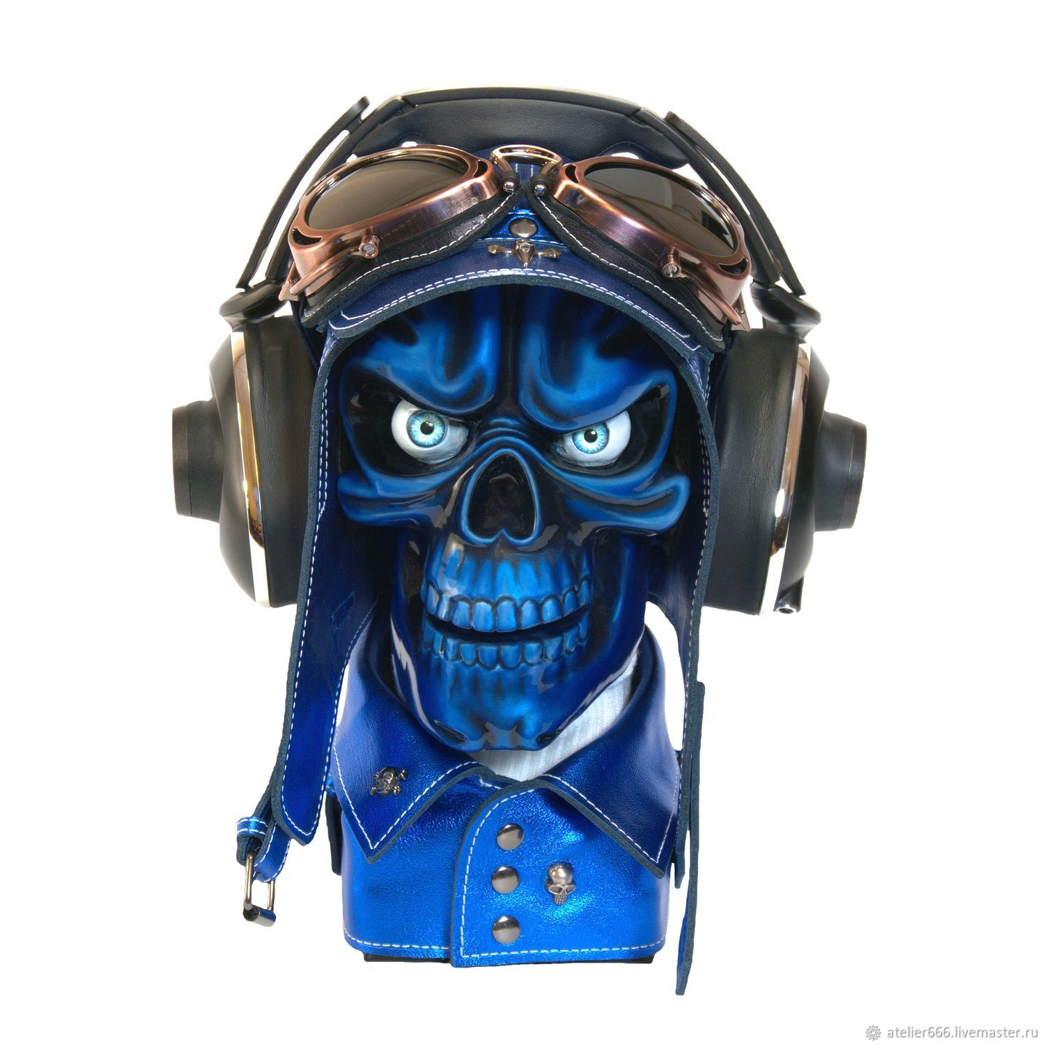 Stand for headphones Skull Version # 6 (project №2), Interior elements, Moscow,  Фото №1