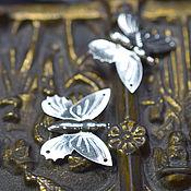 Материалы ручной работы. Ярмарка Мастеров - ручная работа Мотив бабочка для использования в вышивке. Handmade.
