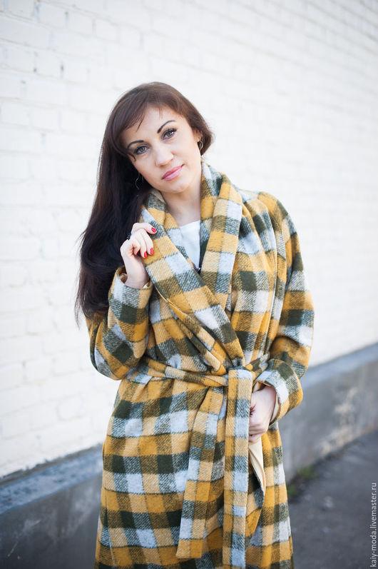 """Верхняя одежда ручной работы. Ярмарка Мастеров - ручная работа. Купить Новинка - Легкое пальто на подкладке - """"Желтый квадрат"""". Handmade."""