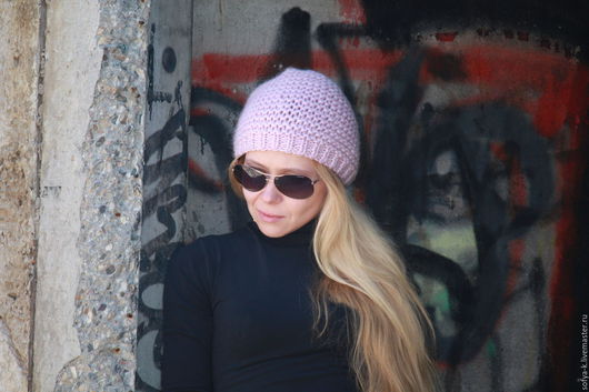 """Шапки ручной работы. Ярмарка Мастеров - ручная работа. Купить Шапка """"Зефир"""". Handmade. Розовый, шапка зимняя, комплект аксессуаров"""