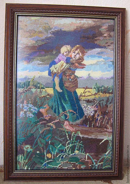 Схема вышивки крестом бегущие от грозы