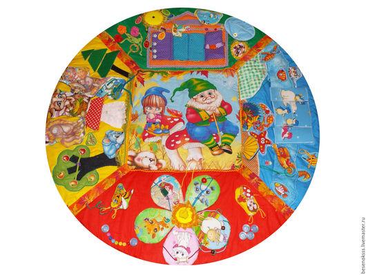 Развивающие игрушки ручной работы. Ярмарка Мастеров - ручная работа. Купить Развивающий коврик - В гостях у сказки. Handmade.