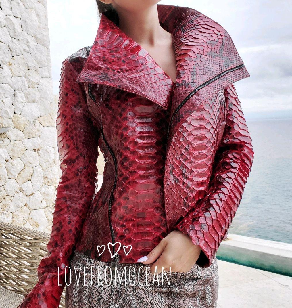 Куртка из натуральной кожи питона Miss Rock, Куртки, Москва,  Фото №1