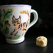 Посуда ручной работы. Ярмарка Мастеров - ручная работа Рыжие котики. Handmade.