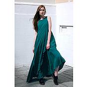 Одежда ручной работы. Ярмарка Мастеров - ручная работа Изумрудное платье в пол. Handmade.