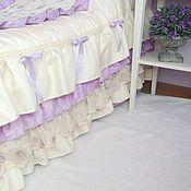 Для дома и интерьера handmade. Livemaster - original item Quilted baby blanket in lilac Shabby Chic. Handmade.