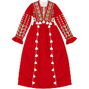 "Одежда handmade. Livemaster - original item Red long dress ""Summer Sunset"". Handmade."