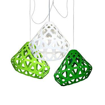 Для дома и интерьера ручной работы. Ярмарка Мастеров - ручная работа ZAHA LIGHT трехцветная трехрожковая люстра 6. Handmade.