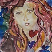 Картины и панно handmade. Livemaster - original item Painting Watercolor Ice and fire. Handmade.