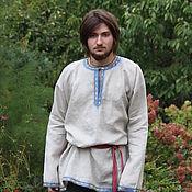 Русский стиль handmade. Livemaster - original item Shirt in Russian style linen. Handmade.