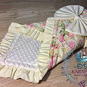 Конверты на выписку ручной работы. Ярмарка Мастеров - ручная работа Конверт-одеяло на выписку. Handmade.