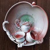 Для дома и интерьера ручной работы. Ярмарка Мастеров - ручная работа Настенная тарелка-панно. Handmade.
