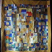 """Для дома и интерьера handmade. Livemaster - original item Лоскутное, стеганое покрывало """" Свидание с Климтом"""". Handmade."""