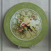 Часы классические ручной работы. Ярмарка Мастеров - ручная работа Настенные часы. Handmade.