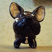 Куклы и игрушки ручной работы. Ярмарка Мастеров - ручная работа Французский бульдожка - деловой боец. Handmade.