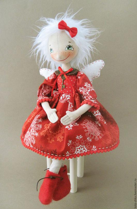 Коллекционные куклы ручной работы. Ярмарка Мастеров - ручная работа. Купить Новогодняя фейка. Handmade. Ярко-красный, новогодний интерьер