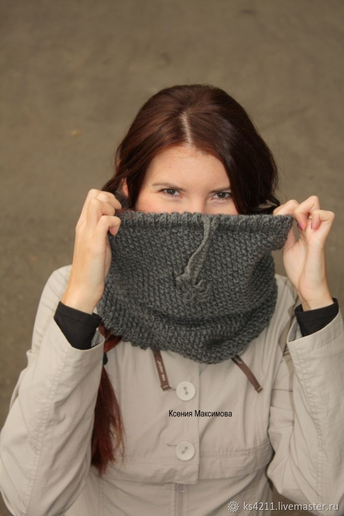 Snood Graphite for those who don't like hats, Snudy1, Novokuznetsk,  Фото №1